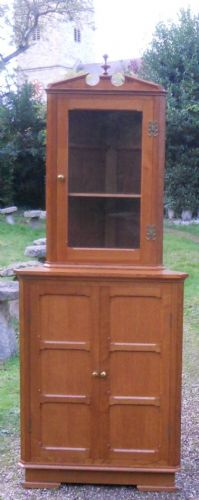 Oak Standing Double Corner Cupboard